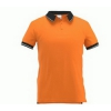 Рубашка-поло мужская с контрастной отделкой