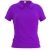 Рубашка-поло женская с боковыми разрезами