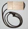 Флэш-накопитель со шнурком,  дерево, 4,8,16 Gb